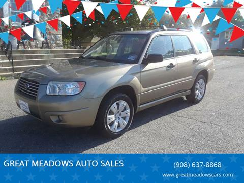 2008 Subaru Forester for sale at GREAT MEADOWS AUTO SALES in Great Meadows NJ