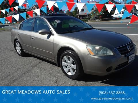 2004 Nissan Altima for sale at GREAT MEADOWS AUTO SALES in Great Meadows NJ