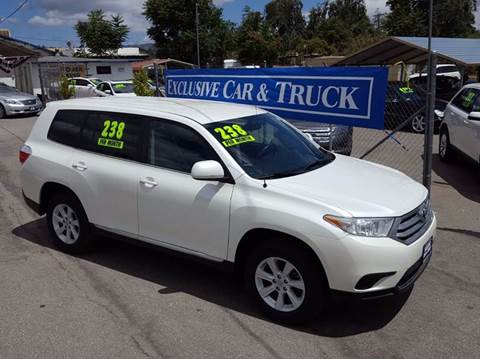 2012 Toyota Highlander for sale at Exclusive Car & Truck in Yucaipa CA
