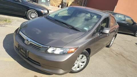 2012 Honda Civic for sale at Bad Credit Call Fadi in Dallas TX