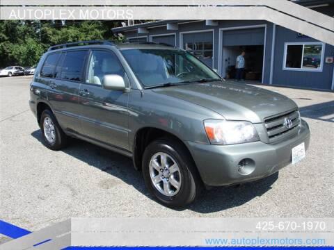 2006 Toyota Highlander for sale at Autoplex Motors in Lynnwood WA