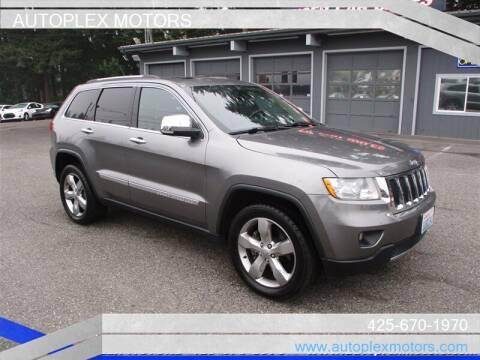2012 Jeep Grand Cherokee for sale at Autoplex Motors in Lynnwood WA