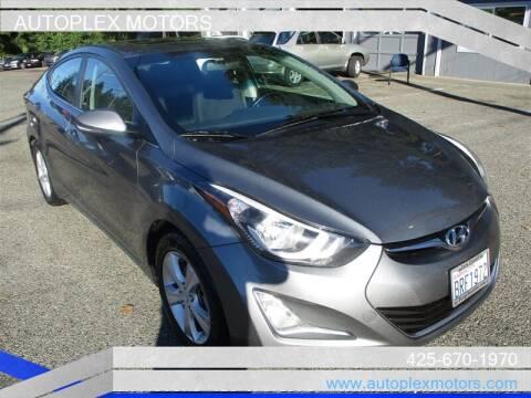 2016 Hyundai Elantra for sale at Autoplex Motors in Lynnwood WA