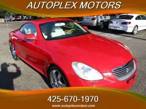 2002 Lexus SC 430 for sale at Autoplex Motors in Lynnwood WA