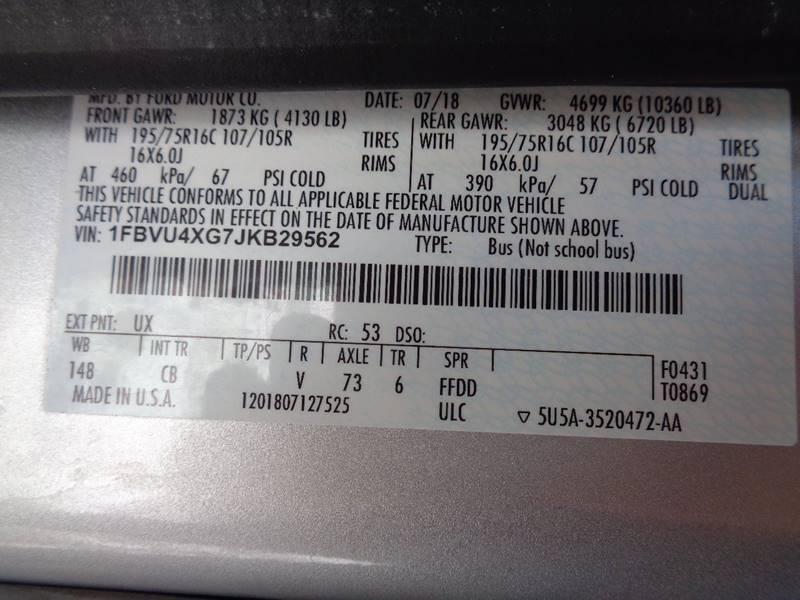 2018 Ford Transit Passenger 350 XLT (image 48)