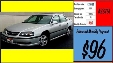 2002 Chevrolet Impala for sale in Grangeville, ID