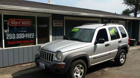 2003 Jeep Liberty for sale at Royal Auto Sales, LLC in Algona WA