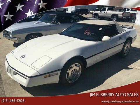 1988 Chevrolet Corvette for sale at Jim Elsberry Auto Sales in Paris IL