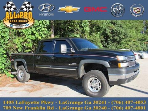 2006 Chevrolet Silverado 2500HD for sale in Lagrange, GA