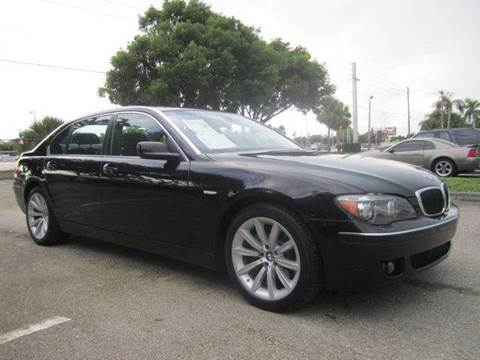 2008 BMW 7 Series for sale at Rosa's Auto Sales in Miami FL