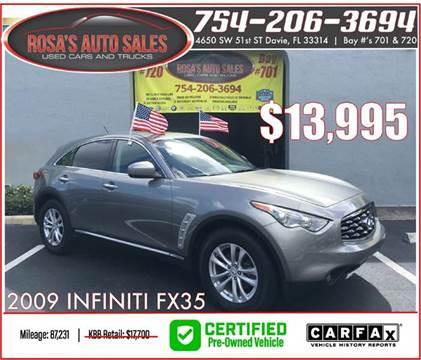 2009 Infiniti FX35 for sale at Rosa's Auto Sales in Miami FL