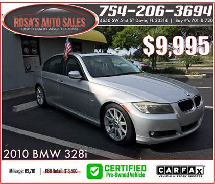 2010 BMW 3 Series for sale at Rosa's Auto Sales in Miami FL