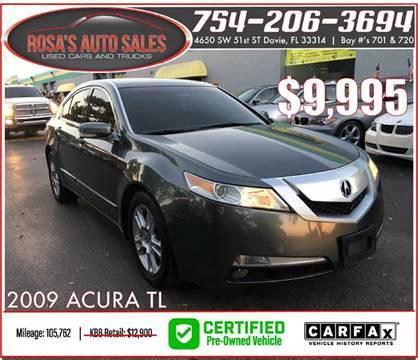 2009 Acura TL for sale at Rosa's Auto Sales in Miami FL
