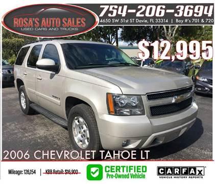 2007 Chevrolet Tahoe for sale at Rosa's Auto Sales in Miami FL