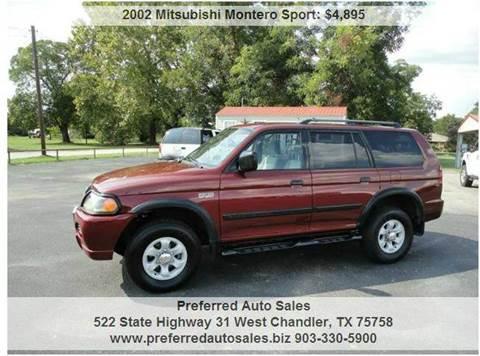 2002 Mitsubishi Montero Sport for sale at Preferred Auto Sales in Tyler TX