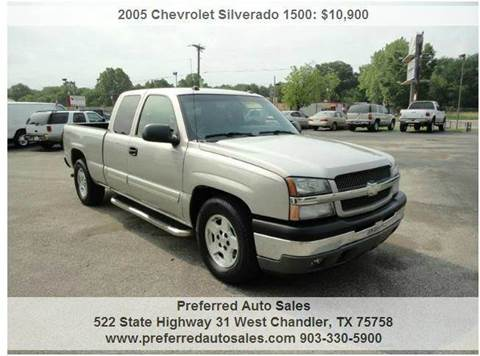 2005 Chevrolet Silverado 1500 for sale at Preferred Auto Sales in Tyler TX