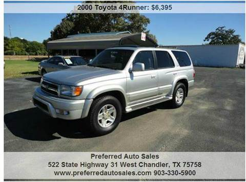 2000 Toyota 4Runner for sale at Preferred Auto Sales in Tyler TX