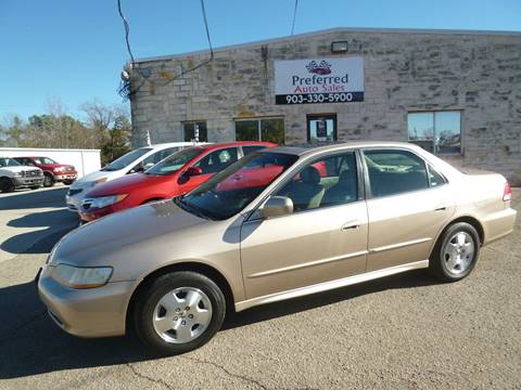 2001 Honda Accord for sale at Preferred Auto Sales in Tyler TX