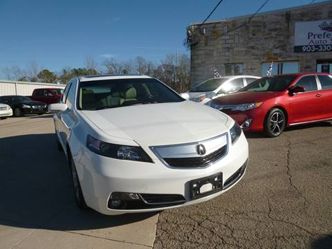2012 Acura TL for sale at Preferred Auto Sales in Tyler TX