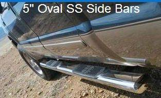 Endurance Truck Accessories 5 inch SS Oval Step Bars for sale in Gratiot, WI