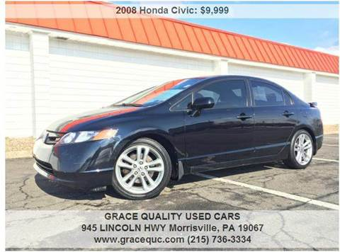 2008 Honda Civic for sale at GRACE QUALITY USED CARS in Morrisville PA