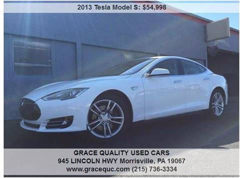 2013 Tesla Model S for sale at GRACE QUALITY USED CARS in Morrisville PA