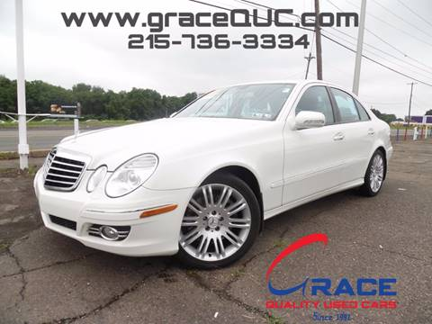 2007 Mercedes-Benz E-Class for sale at GRACE QUALITY USED CARS in Morrisville PA