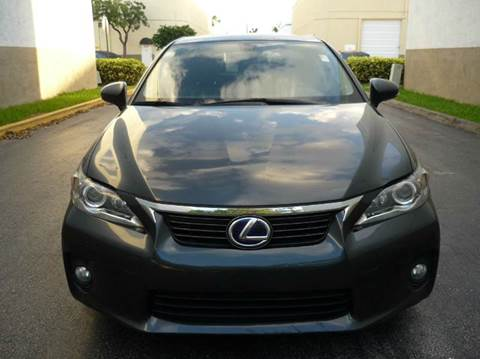 2011 Lexus CT 200h for sale at INTERNATIONAL AUTO BROKERS INC in Hollywood FL