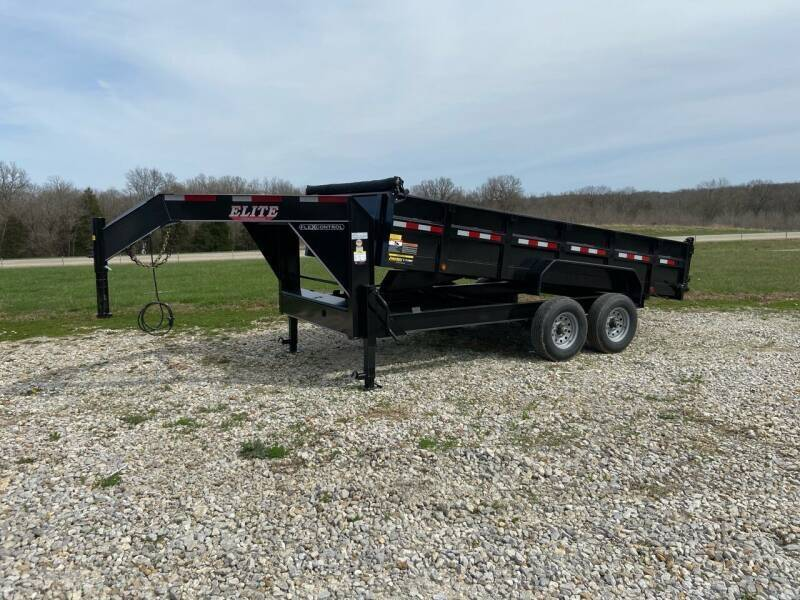 """2021 Elite 83"""" x 16' Gooseneck Dump  for sale at Ken's Auto Sales & Repairs in New Bloomfield MO"""