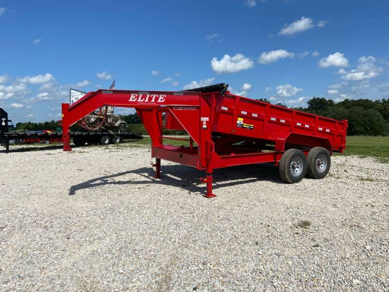 "2021 Elite  83"" x 14' Gooseneck Dump for sale at Ken's Auto Sales & Repairs in New Bloomfield MO"