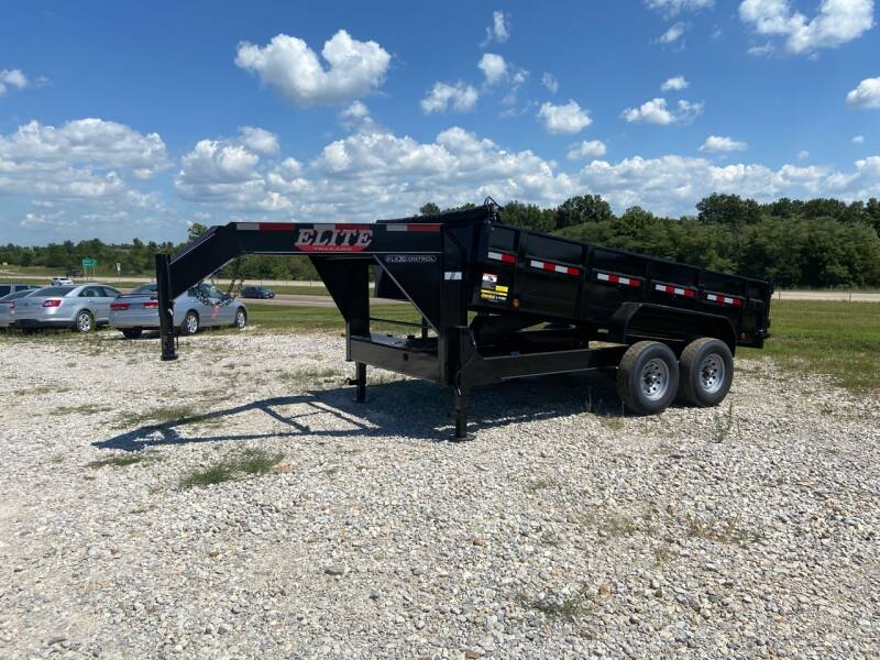"""2021 Elite  83"""" x 14' Gooseneck Dump for sale at Ken's Auto Sales & Repairs in New Bloomfield MO"""