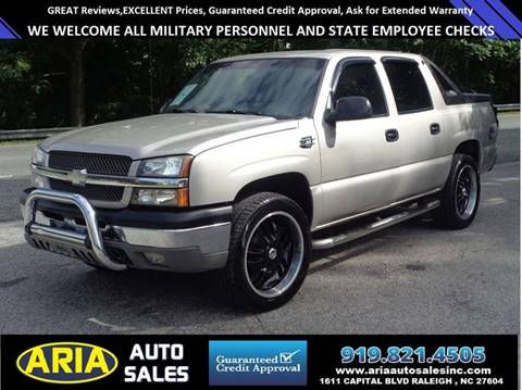 2004 Chevrolet Avalanche for sale at ARIA  AUTO  SALES in Raleigh NC