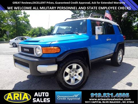 2007 Toyota FJ Cruiser for sale at ARIA  AUTO  SALES in Raleigh NC