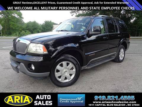 2003 Lincoln Aviator for sale at ARIA  AUTO  SALES in Raleigh NC