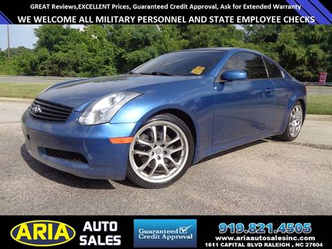 2007 Infiniti G35 for sale at ARIA  AUTO  SALES in Raleigh NC
