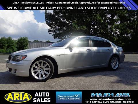 2006 BMW 7 Series for sale at ARIA  AUTO  SALES in Raleigh NC
