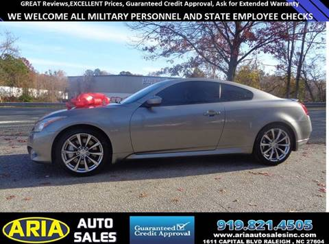 Infiniti Used Cars Financing For Sale Raleigh Aria Auto Sales