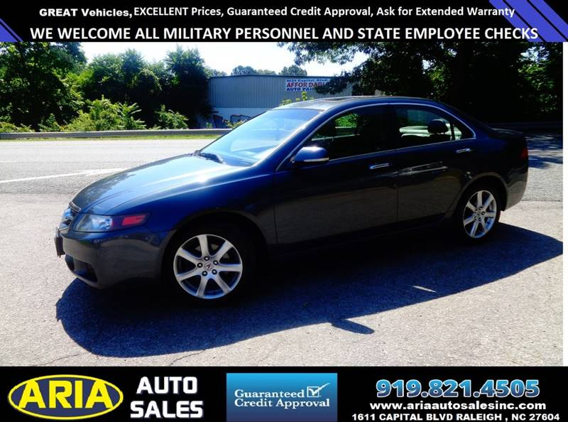 Acura Tsx Dr Sedan In Raleigh NC Aria Auto Sales - Acura extended warranty