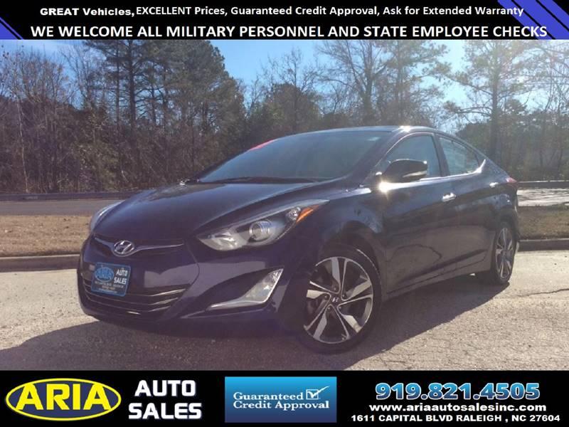 2014 Hyundai Elantra Limited 4dr Sedan In Raleigh Nc Aria Auto Sales