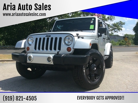 2009 Jeep Wrangler Unlimited for sale at ARIA AUTO SALES in Raleigh NC