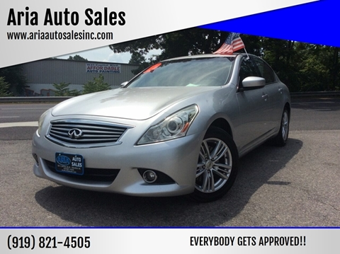 2011 Infiniti G37 Sedan for sale at ARIA AUTO SALES in Raleigh NC