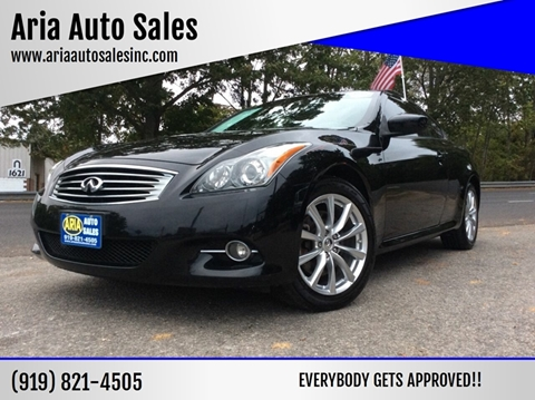 2013 Infiniti G37 Coupe for sale at ARIA AUTO SALES in Raleigh NC