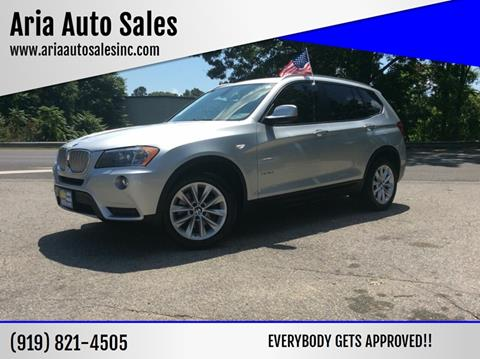 2012 BMW X3 for sale at ARIA AUTO SALES in Raleigh NC