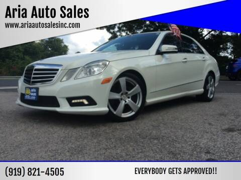 2011 Mercedes-Benz E-Class for sale at ARIA AUTO SALES in Raleigh NC