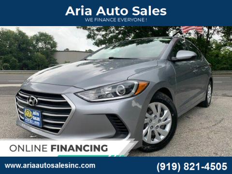 2017 Hyundai Elantra for sale at ARIA AUTO SALES in Raleigh NC