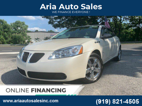 2008 Pontiac G6 for sale at ARIA AUTO SALES in Raleigh NC