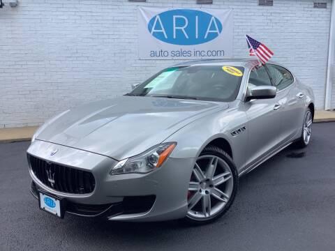 2014 Maserati Quattroporte for sale at ARIA AUTO SALES INC.COM in Raleigh NC