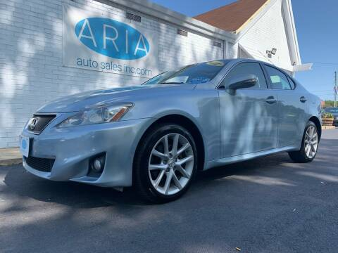 2012 Lexus IS 250 for sale at ARIA AUTO SALES in Raleigh NC