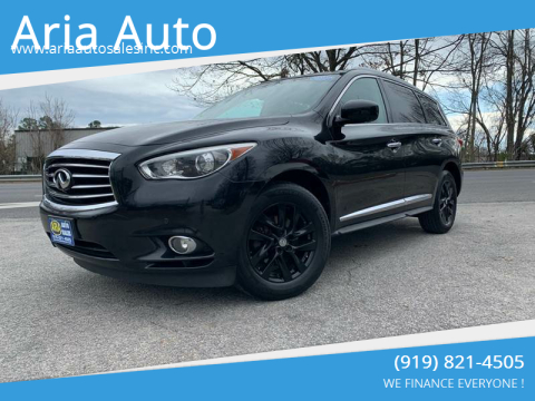 2013 Infiniti JX35 for sale at ARIA AUTO SALES in Raleigh NC