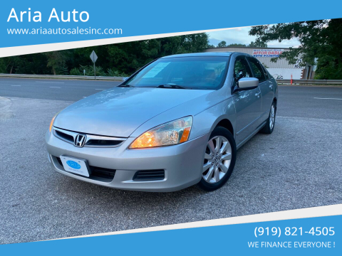 2007 Honda Accord for sale at ARIA AUTO SALES in Raleigh NC
